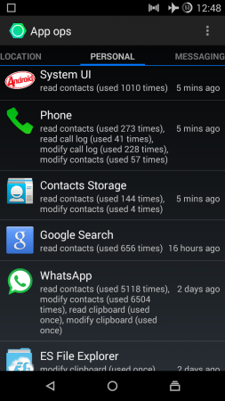 Privacy Guard Feature of CyanogenMod
