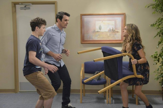 Luke, Phil and Haley in 'Modern Family'
