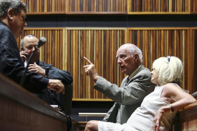 Bob Hewitt during his trial in South Africa.