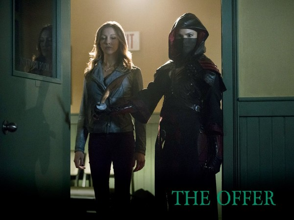 "Laurel and Nyssa in ""Arrow"""