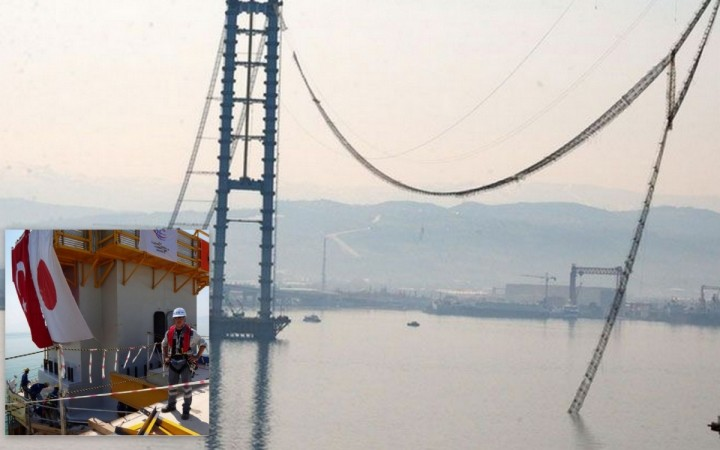 Kishi Ryoichi, 51, a Japanese engineer committed suicide for the rupture of a rope at an under construction suspension bridge.