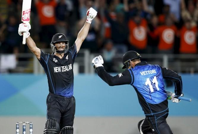Grant Elliott Daniel Vettori New Zealand ICC Cricket World Cup 2015