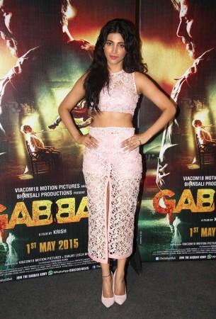 'Gabbar Is Back': Shruti Haasan, Akshay Kumar Attend Trailer Launch