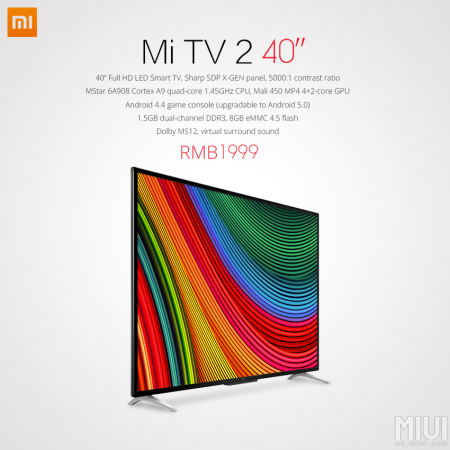 Xiaomi Launches New Mi TV 2 With Full HD Screen In China; Specs, Features, Price Details Revealed