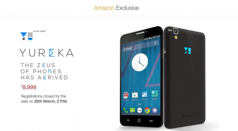 Micromax YU Yureka Amazon India Flash Sale 11.0 to Go Live on 25 March