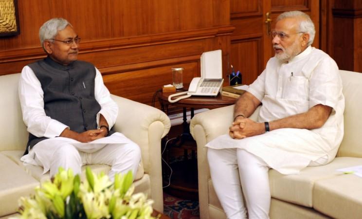 Nitish Kumar with Narendra Modi