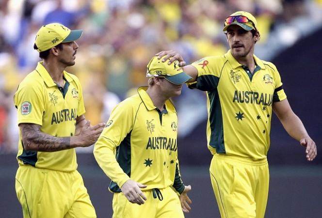 Mitchell Johnson Steven Smith Mitchell Starc Australia ICC Cricket World Cup 2015