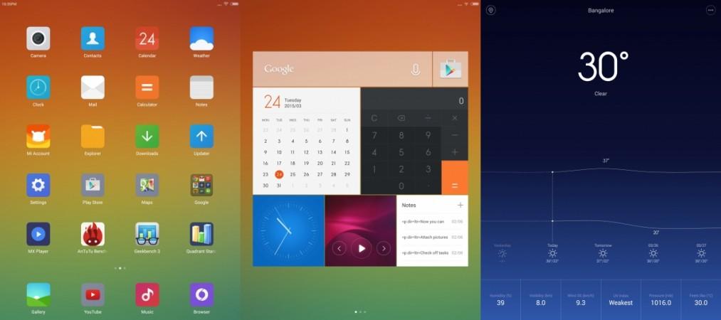 Xiaomi Mi Pad Interface