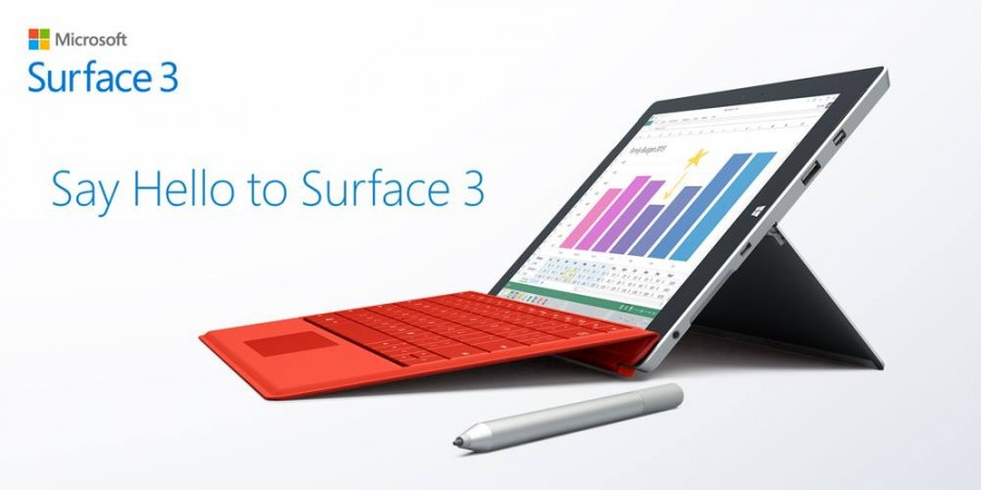 Microsoft Launches Surface 3 With Windows 8.1; Price, Features And Specifications