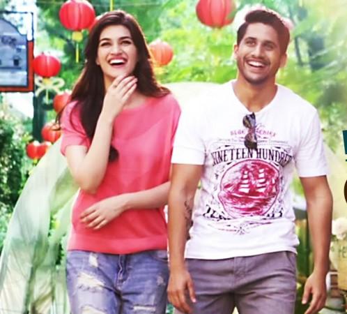 Kriti Sanon and Naga Chaitanya in 'Dohchay'