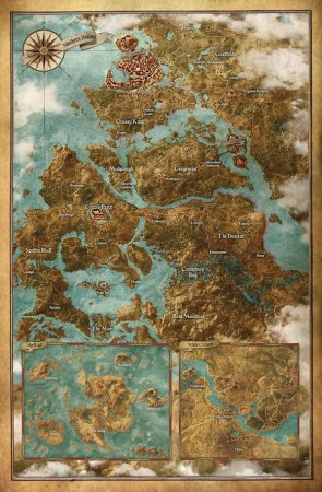 The Witcher 3: Wild Hunt open world map