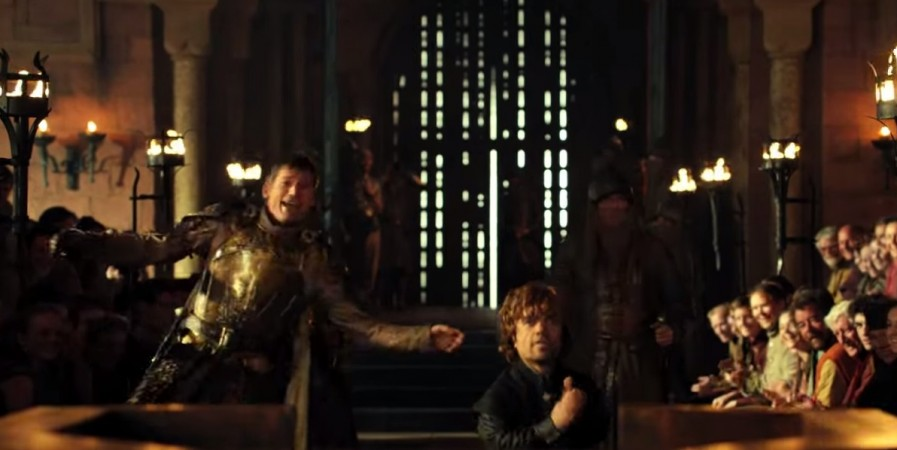 Jamie and Tyrion Lannister dancing at the trial