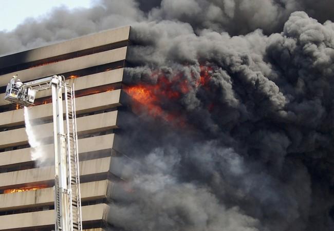 fire in building