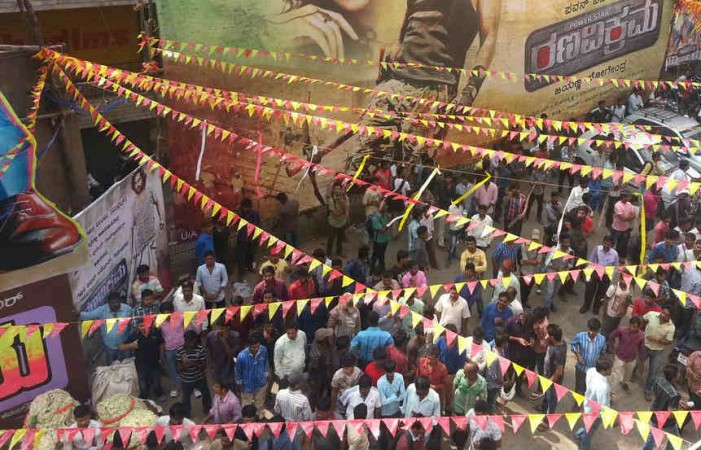 Crowd at Santhosh Theatre