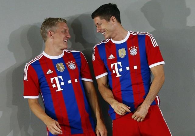 Robert Lewandowski and Bastian Schweinsteiger