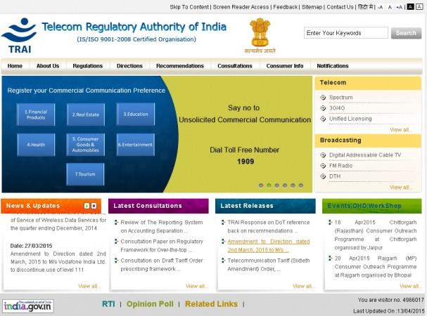 The TRAI Website