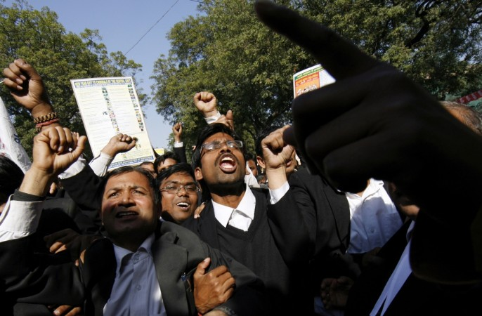 lawyer dead, protest