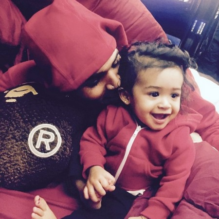 Chris Brown with her daughter Royalty