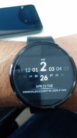 Moto 360 with a 3rd party watchface