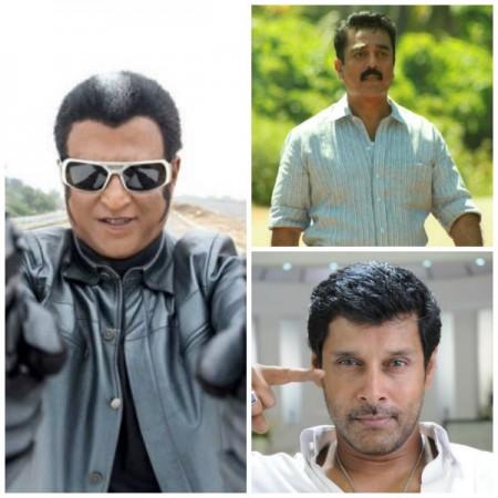 Rajinikanth,Kamal Haasan, Vikram
