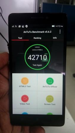 Antutu score on Lenovo A7000
