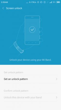 MI Band Screen Unlock