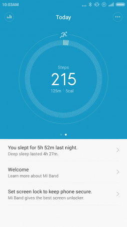 MI Band Step Counter
