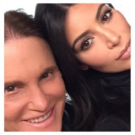 Kim Kardashian posts selfie with step-father Bruce Jenner
