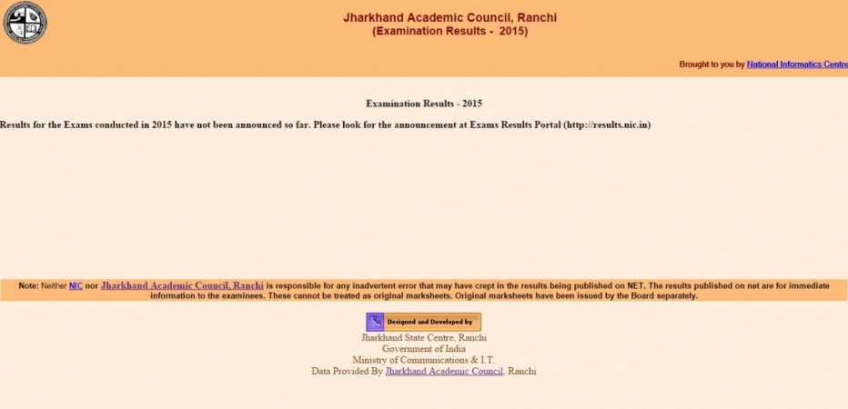 JAC Jharkhand Board Results 2015