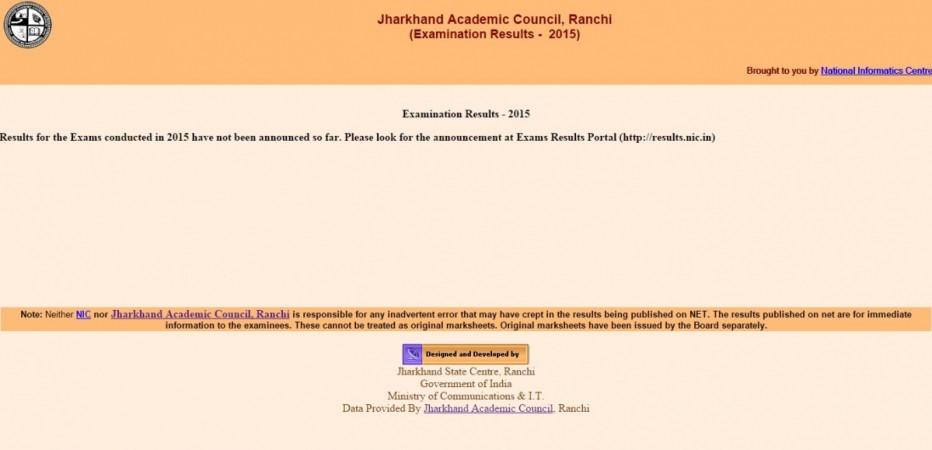 JAC Jharkhand Board Results 2015