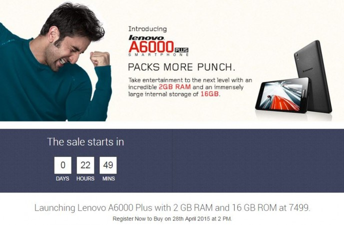 Lenovo A6000 Plus Flash Sale Record; 1 Lakh Units Sold In 15 Minutes; Next Flash Sale On 5 May