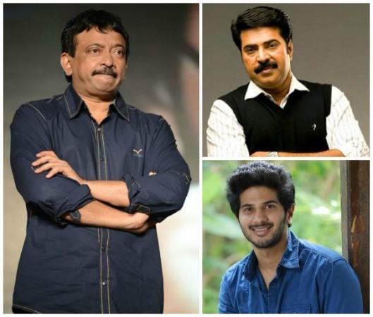 Ram Gopal Varma, Dulquer Salmaan and Mammooty