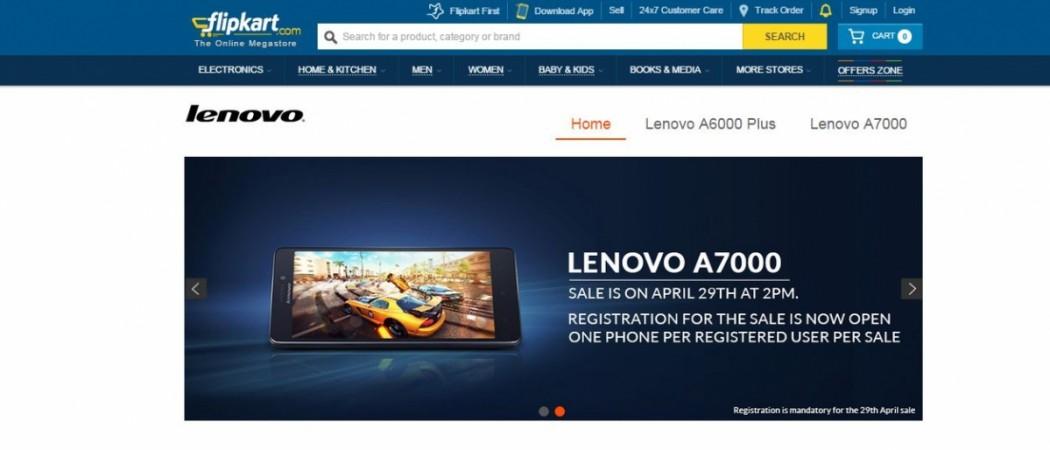Lenovo A7000 Flipkart Flash Sale 3.0 to Start on 29 April