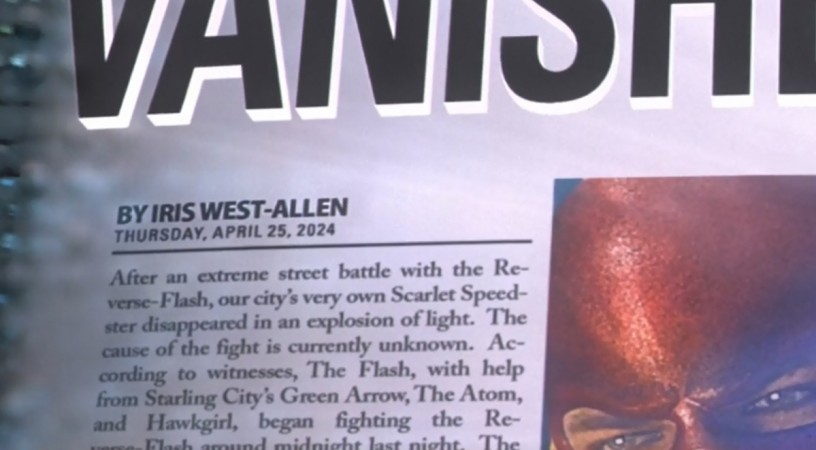 News article about The Flash written by Iris