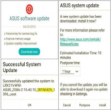 New Android 5.0 Lollipop Update Release Schedule Announced for Asus Zenfone 4, 5, 6; Zenfone 2 Gets New Firmware via OTA