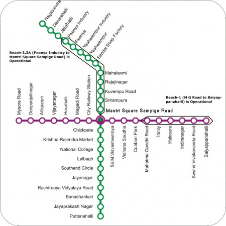 Bangaloe Metro Route Map
