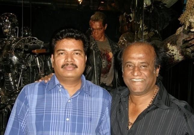 Shankar with Rajinikanth