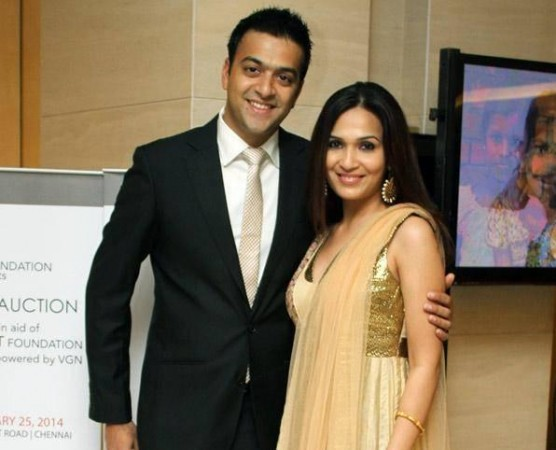 Soundarya with Hubby Ashwin