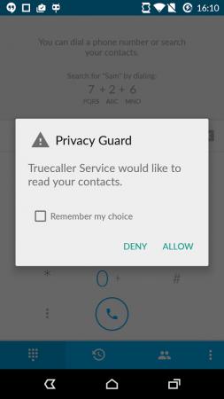 Privacy Guard Settings