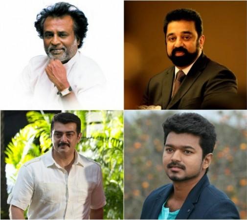 Rajinikanth, Kamal Haasan, Ajith, Vijay