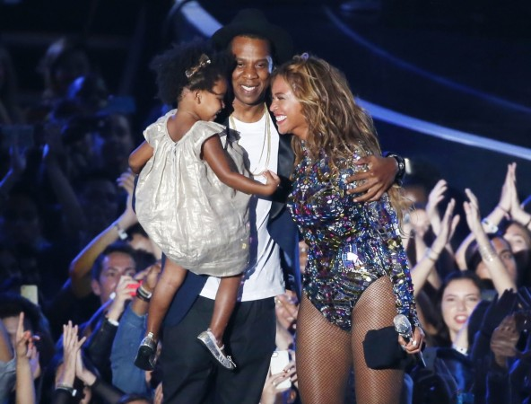 Beyonce at the VMAs with Blue Ivy and Jay Z