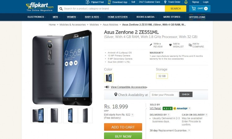 Asus Releases New Zenfone 2 (ZE551ML) Variant in India; Price, Specifications