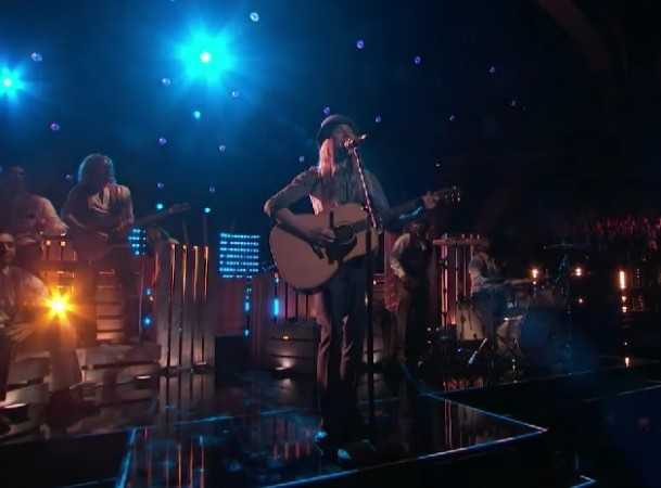 "Sawyer Fredericks performs Buffalo Springfield's ""For What It's Worth"" on The Voice Season 8"