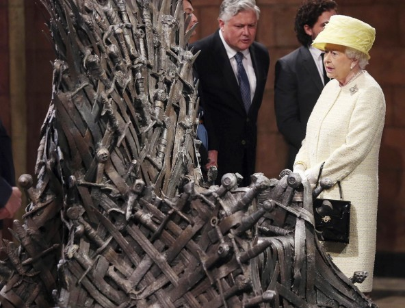 Queen on the sets of Game of Thrones