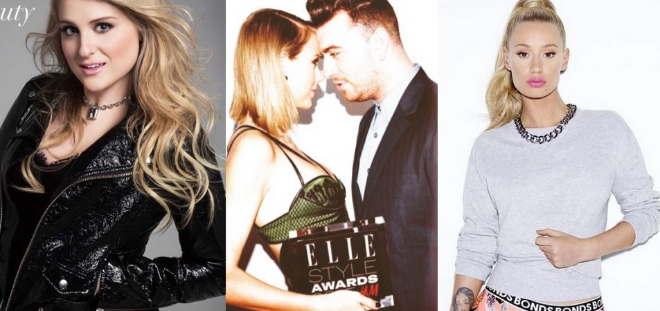 Taylor Swift, Sam Smith, Meghan Trainer and Iggy Azalea who dominate the Billboard music awards nominee list