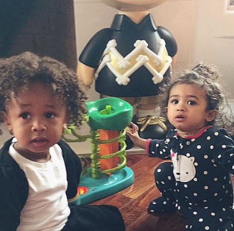 Tyga's son, King Cairo and Chris Brown's daughter, Royalty