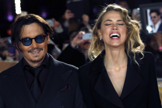 Johnny Depp with  wife Amber Heard