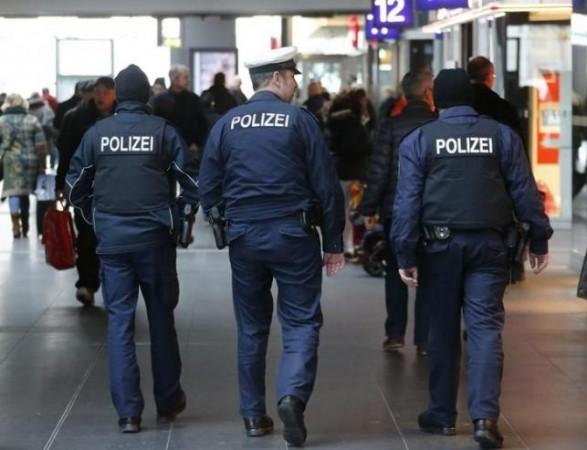 German police patrol the Hauptbahnhof, Berlin's main train station, January 17, 2015.