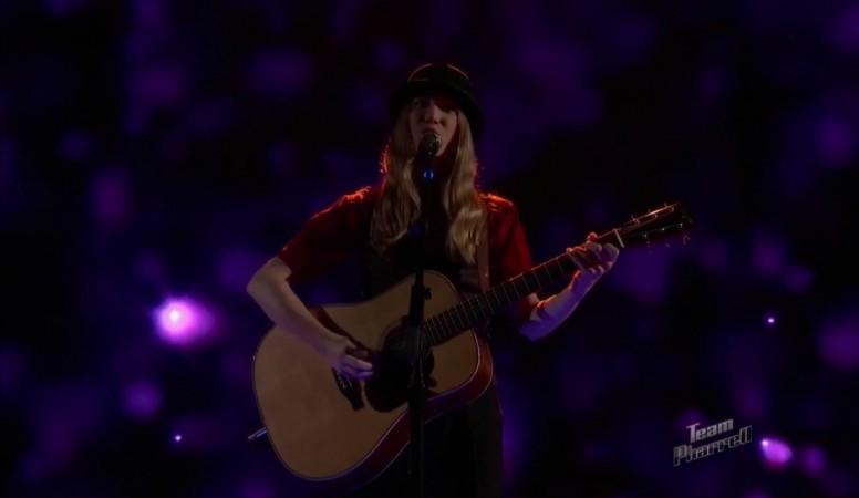 """Sawyer Fredericks performing """"Please"""" on """"The Voice"""" Season 8"""