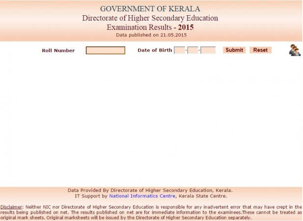Kerala Plus Two Class 12 DHSE results online
